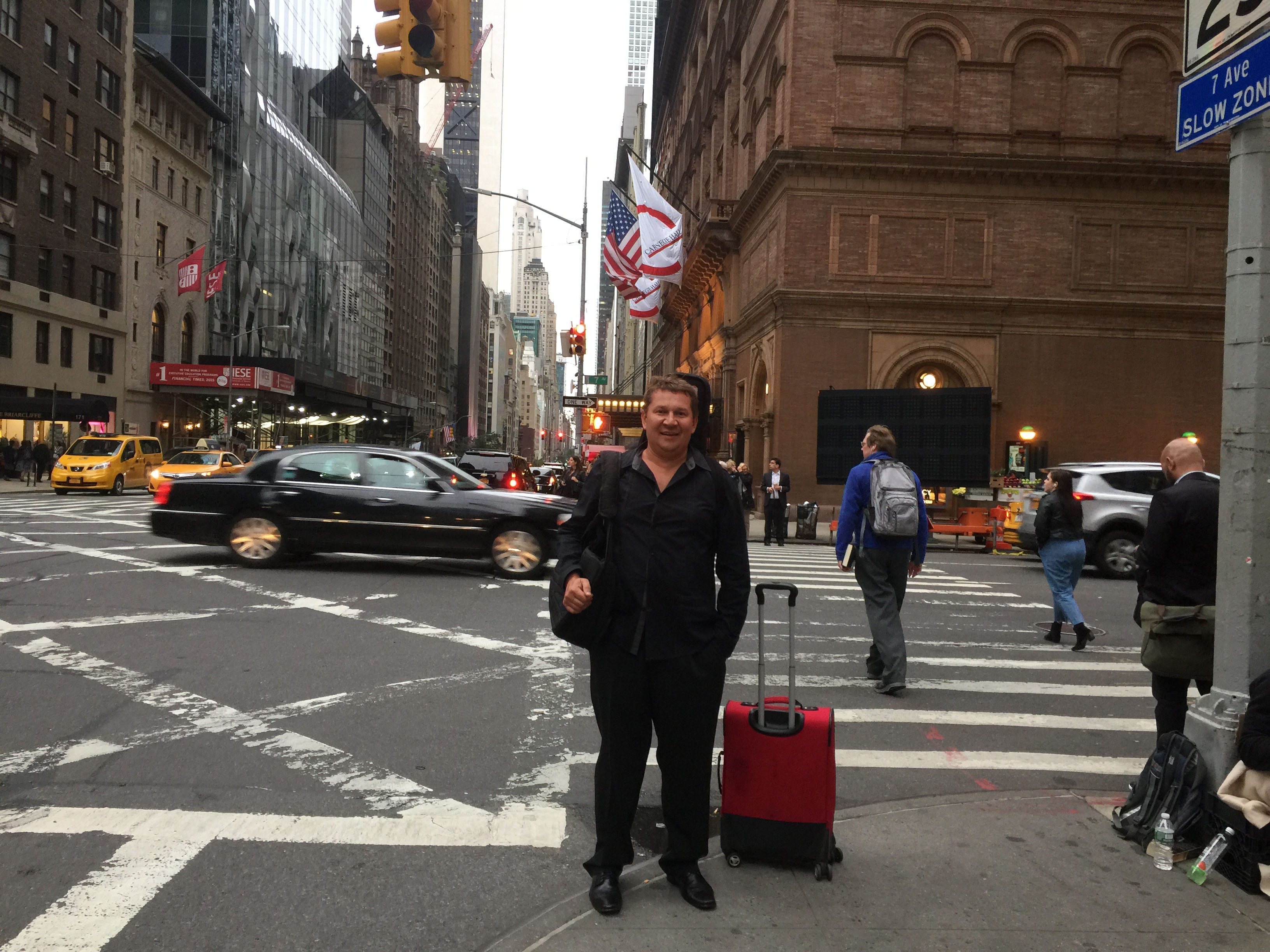 Mikhail Smirnov before the concert at the Carnegie Hall in New York City