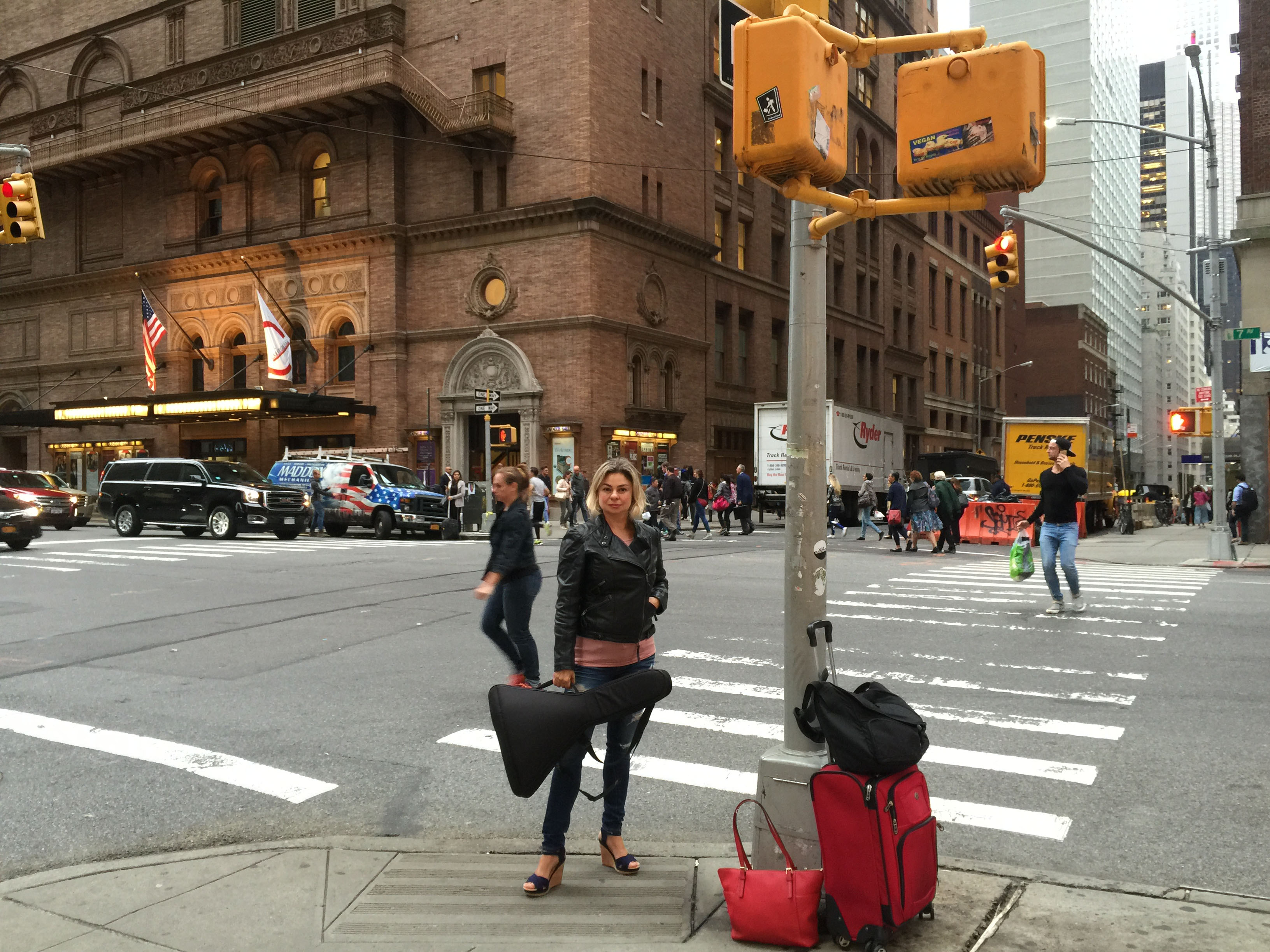 Elina Karokhina before the concert at the Carnegie Hall in New York City